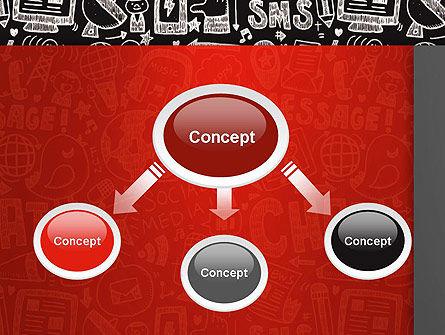 Message Doodles PowerPoint Template, Slide 4, 12875, Telecommunication — PoweredTemplate.com
