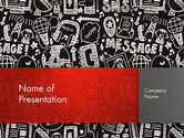 Telecommunication: Message Doodles PowerPoint Template #12875