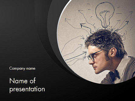 Intense Thought Process PowerPoint Template