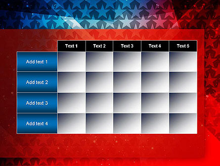 USA Theme PowerPoint Template Slide 15