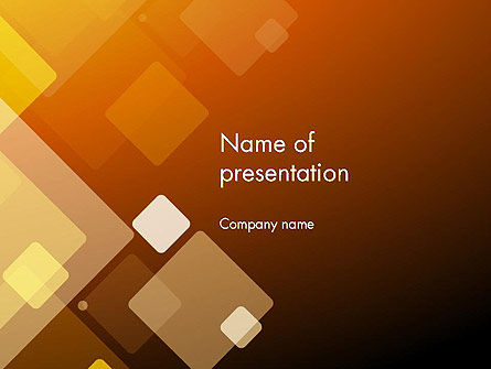 Abstract Transparent Squares PowerPoint Template