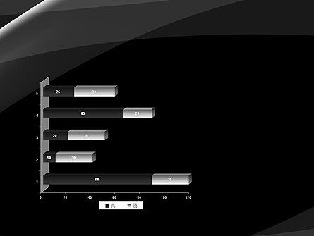 Gray Waves on Black Background PowerPoint Template Slide 11