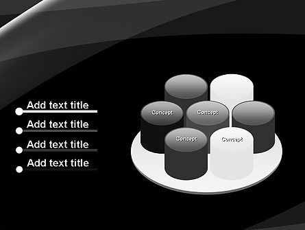 Gray Waves on Black Background PowerPoint Template Slide 12