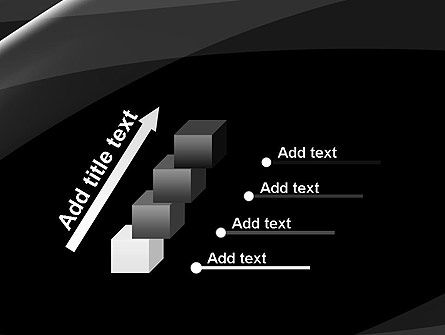 Gray Waves on Black Background PowerPoint Template Slide 14