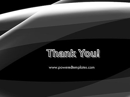 Gray Waves on Black Background PowerPoint Template Slide 20
