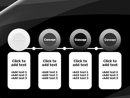 Gray Waves on Black Background PowerPoint Template Slide 5