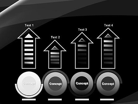 Gray Waves on Black Background PowerPoint Template Slide 7