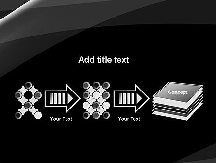 Gray Waves on Black Background PowerPoint Template Slide 9