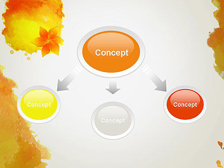 Ink Watercolor with Yellow Leaves PowerPoint Template Slide 4