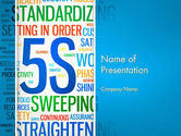 Careers/Industry: 5S Word Cloud PowerPoint Template #12883