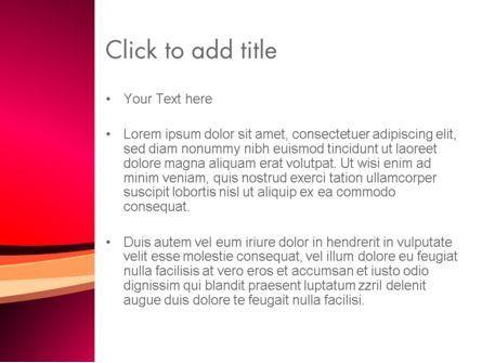 Crimson Theme PowerPoint Template, Slide 3, 12887, Abstract/Textures — PoweredTemplate.com