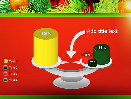 Christmas Fir Branches PowerPoint Template Slide 10