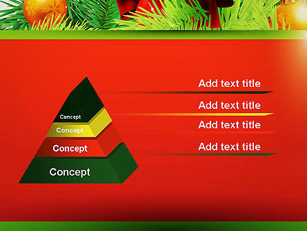 Christmas Fir Branches PowerPoint Template Slide 12