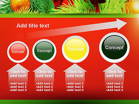 Christmas Fir Branches PowerPoint Template Slide 13