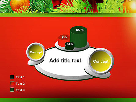 Christmas Fir Branches PowerPoint Template Slide 16
