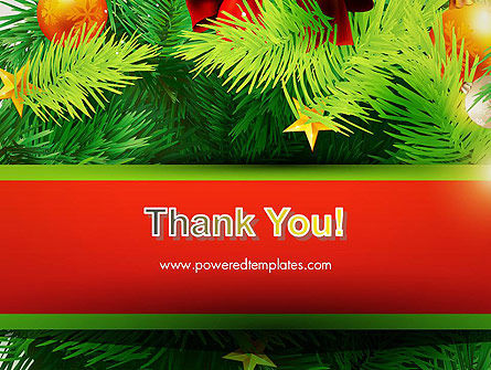 Christmas Fir Branches PowerPoint Template Slide 20