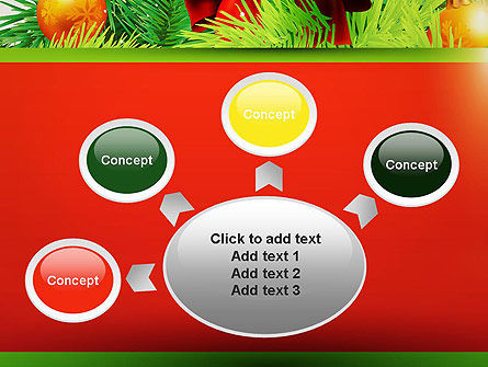 Christmas Fir Branches PowerPoint Template Slide 7
