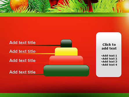 Christmas Fir Branches PowerPoint Template Slide 8