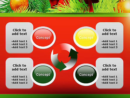 Christmas Fir Branches PowerPoint Template Slide 9