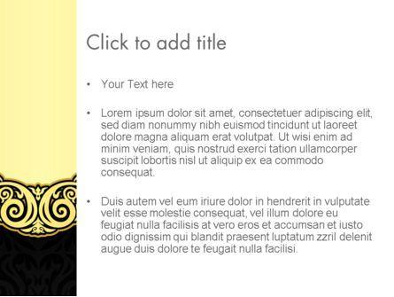 Ornamental Theme PowerPoint Template, Slide 3, 12890, Art & Entertainment — PoweredTemplate.com