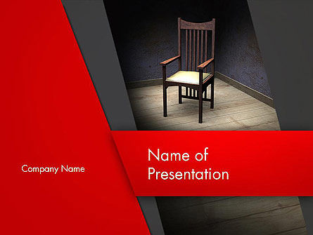 Chair in the Corner PowerPoint Template, 12891, Medical — PoweredTemplate.com