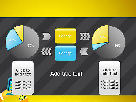Hands with Touchpad Drawing PowerPoint Template Slide 16