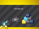 Hands with Touchpad Drawing PowerPoint Template#13