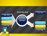 Hands with Touchpad Drawing PowerPoint Template#15