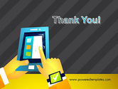 Hands with Touchpad Drawing PowerPoint Template#20