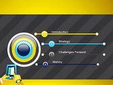 Hands with Touchpad Drawing PowerPoint Template#3