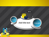 Hands with Touchpad Drawing PowerPoint Template#6
