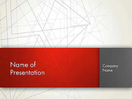 Polygonal Abstract Delineation PowerPoint Template, 12893, Abstract/Textures — PoweredTemplate.com