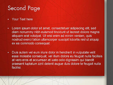 Polygonal Abstract Delineation PowerPoint Template Slide 2