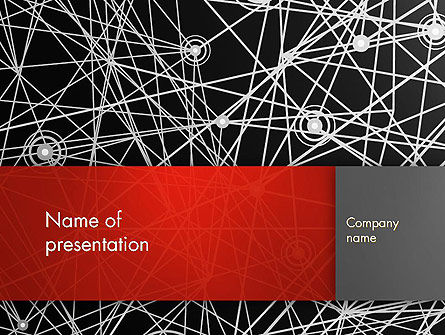 Nodes and Connections PowerPoint Template, 12894, Technology and Science — PoweredTemplate.com