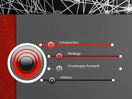 Nodes and Connections PowerPoint Template, Slide 3, 12894, Technology and Science — PoweredTemplate.com