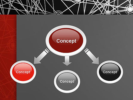 Nodes and Connections PowerPoint Template, Slide 4, 12894, Technology and Science — PoweredTemplate.com