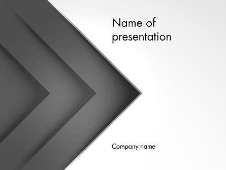 Gray Arrow Concept PowerPoint Template, 12896, Business — PoweredTemplate.com