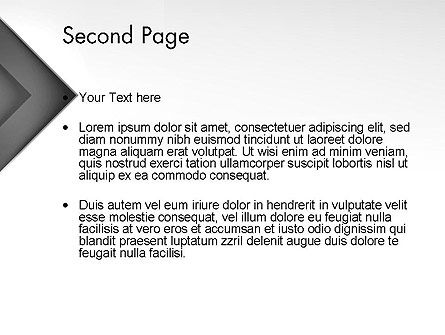 Gray Arrow Concept PowerPoint Template, Slide 2, 12896, Business — PoweredTemplate.com