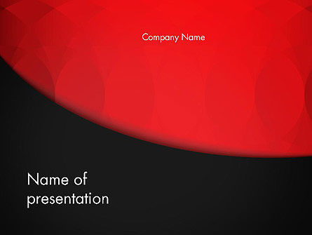 Abstract/Textures: Black and Red PowerPoint Template #12897