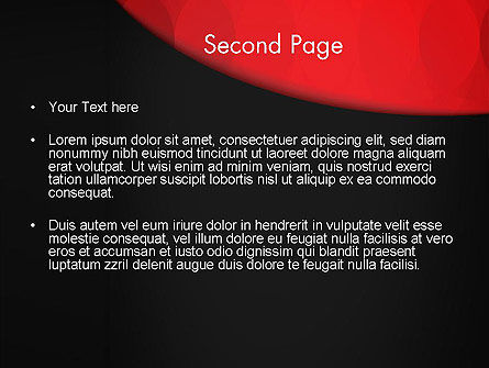Black and Red PowerPoint Template Slide 2