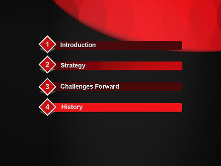 Black and Red PowerPoint Template Slide 3
