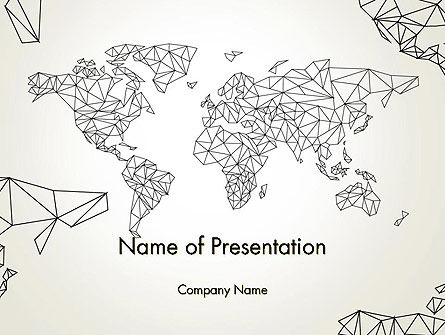 Word Map in Polygonal Design PowerPoint Template