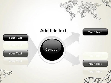 Word Map in Polygonal Design PowerPoint Template Slide 14