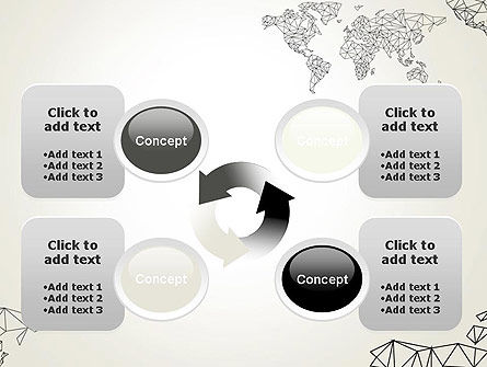 Word Map in Polygonal Design PowerPoint Template Slide 9