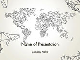 Global: Word Map in Polygonal Design PowerPoint Template #12898