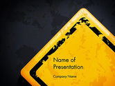 Business Concepts: Warning Sign PowerPoint Template #12900