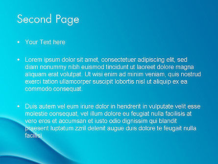 Abstract Blue Waves PowerPoint Template Slide 2