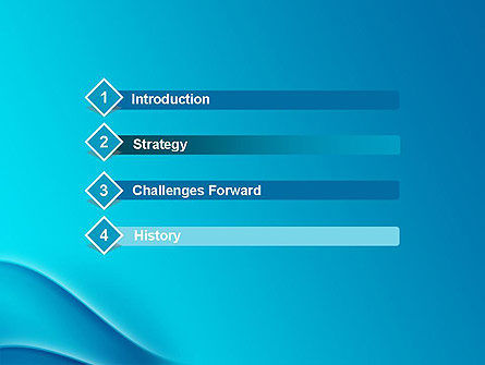 Abstract Blue Waves PowerPoint Template Slide 3