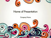 Art & Entertainment: European Classical Pattern PowerPoint Template #12902