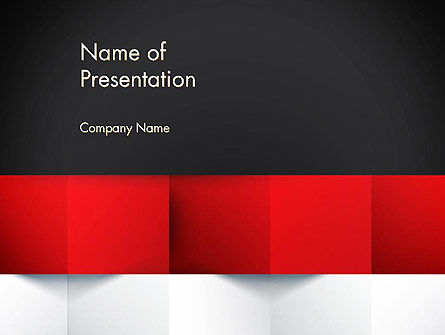 Business: Black Red and White Geometrical PowerPoint Template #12904